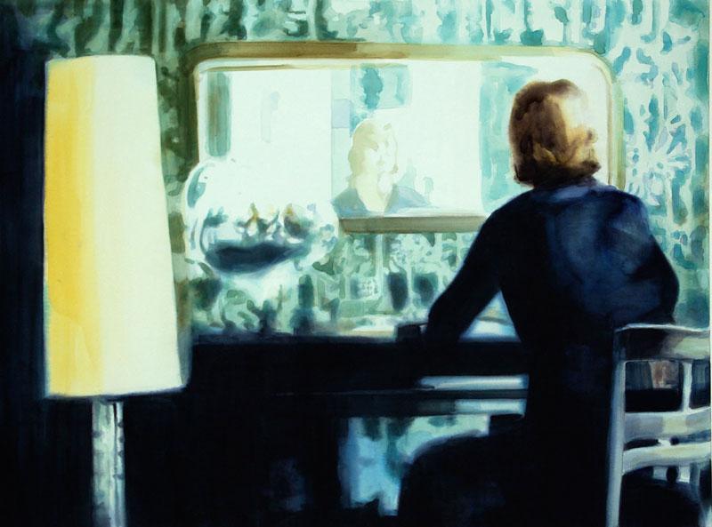 Tom Fabritius, Lampe, Acrylic On Canvas, 120×160 Cm