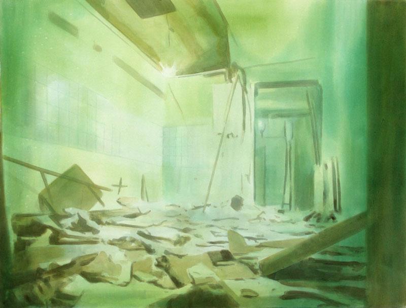 Tom Fabritius, Bruch, 2008, acrylic on canvas,130x170 cm