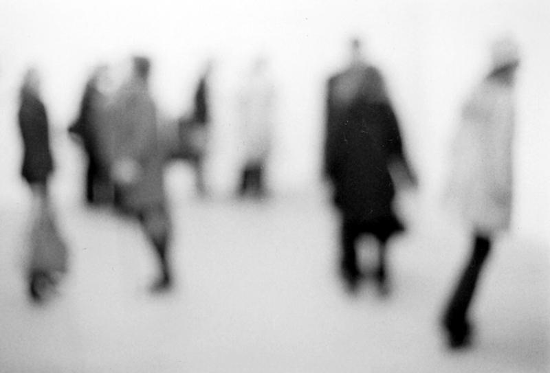 Toni Thorimbert, Artists Visitors, 2015, stampa blu back, 170x260cm