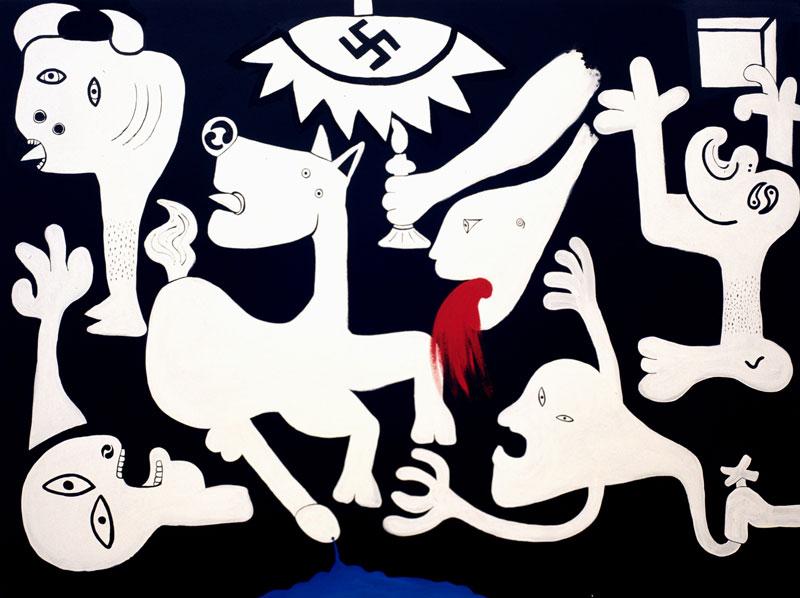 Laboratorio Saccardi, Guernica, 2005, acrylic on canvas, 150x200 cm