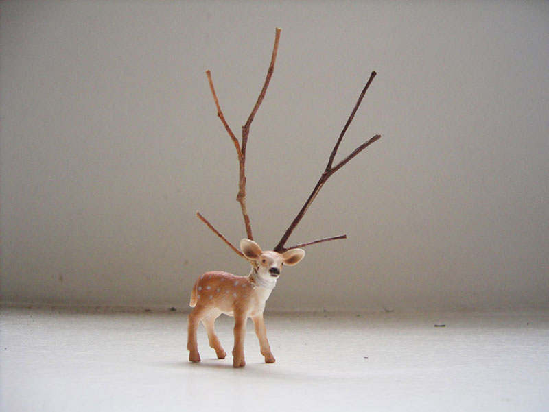 Luigi Presicce, Bambi, 2006, plastic, wood, cotton, cm 6x7x12