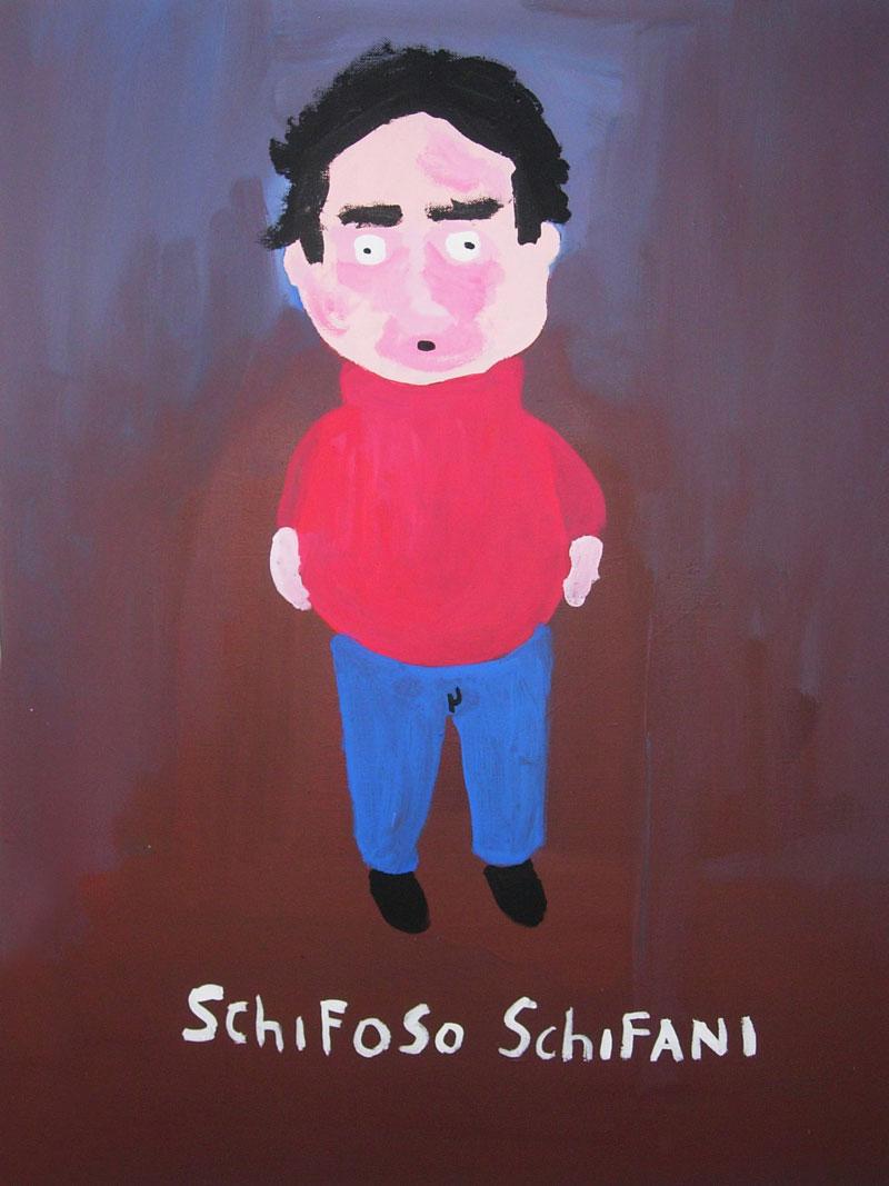 Laboratorio Saccardi, Schifani, 2005, acrylic on canvas, 80x60 cm