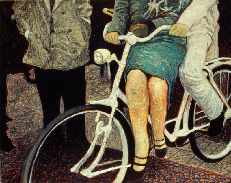 Andrea Salvino, Che Faccio..., 2001, Olio Su Tela, 80x100 Cm