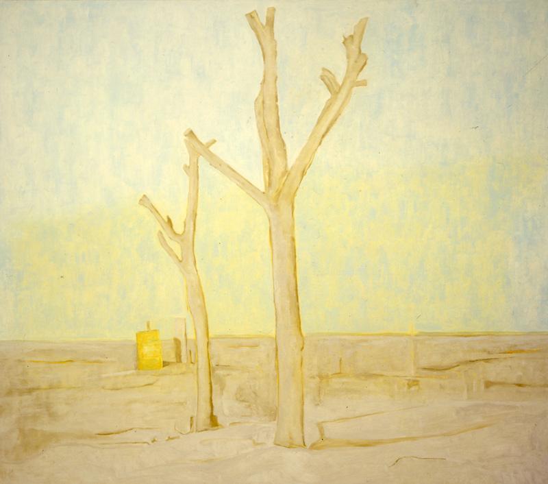 Pietro Capogrosso, Alberi (volontà Di Forma), 2001, Oil On Canvas, 120x140 Cm