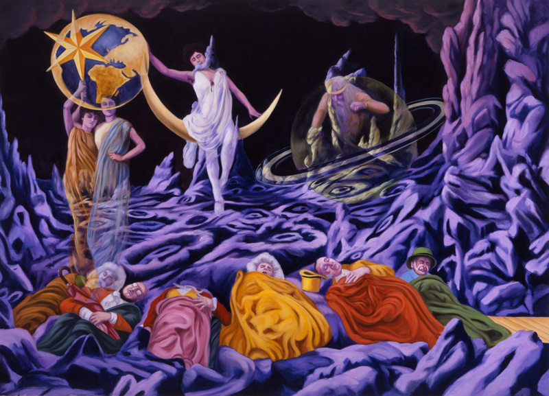Gabriele Di Matteo, Photo De Plateau N°10, 2003, Oil On Canvas, Cm 180x250