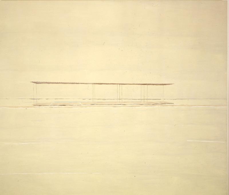 Pietro Capogrosso, Orizzonte 1, 2000, Oil On Canvas, 120x140 Cm