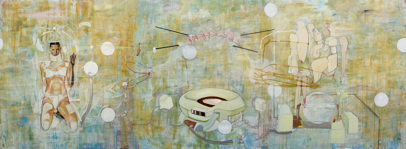 Dormice, The Large Glass, 2002, Mixed Media On Canvas, 540x200 Cm