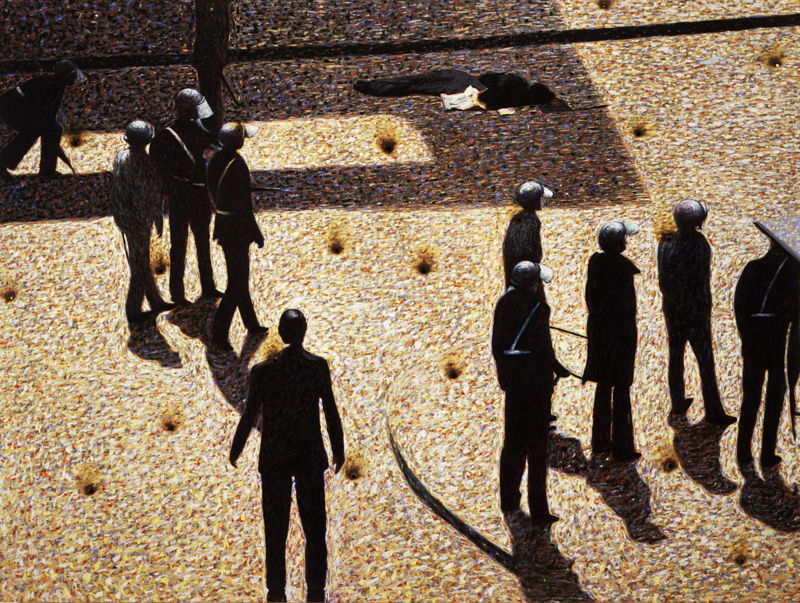 Andrea Salvino, Il Disprezzo, 2001, Olio Su Tavola, 150x200 Cm