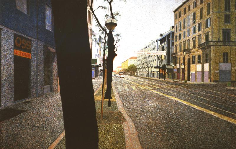 Andrea Salvino, Il Disprezzo, 2001, Olio Su Tela, 380x600 Cm