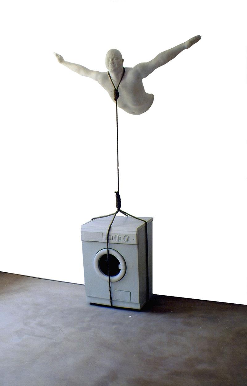 Andrea Contin, Mi Dispiace Di Morire (ma Sono Contento), 2001, Installation, 260x165x75 Cm