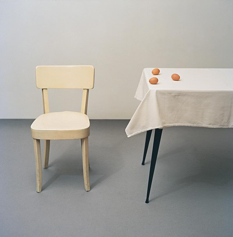 Carlo Benvenuto, S.T., (tavolo Con Uova), 1999, C-print, 160x160 Cm