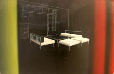 Gioacchino Pontrelli, Scena 3, 2000, Oil On Canvas, 70x110 Cm