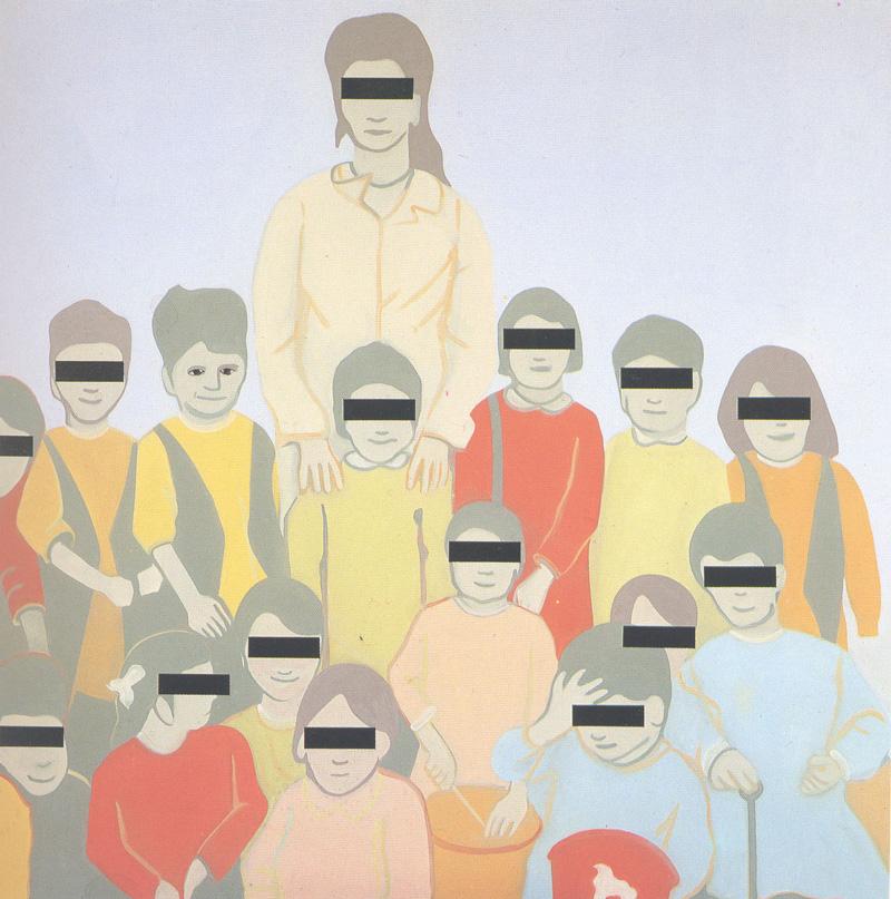 Luca Pancrazzi, Mostro Bambino, 1993, Oil On Canvas, 200x200 Cm