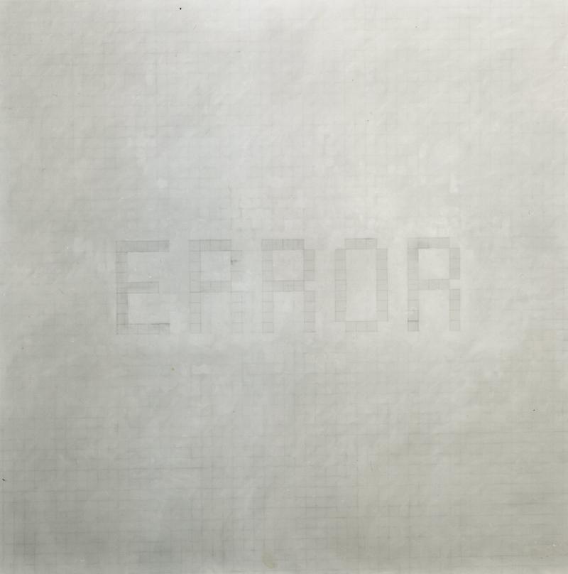 Luca Pancrazzi, Error, 2000, Grafite On Paper Mounted On Canvas, 200x200 Cm