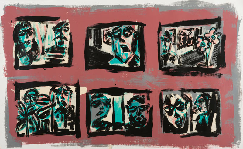 Russ Pope, Complex, 2015, acrylic on paper, 137x213 cm