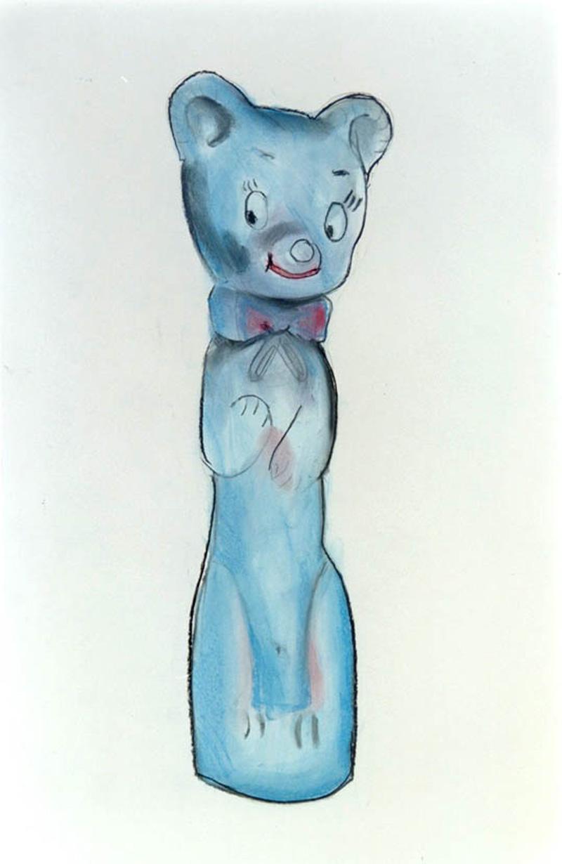 Lorenzo Scotto Di Luzio, Gattino, 2001, Pencil On Paper, 100x70 Cm