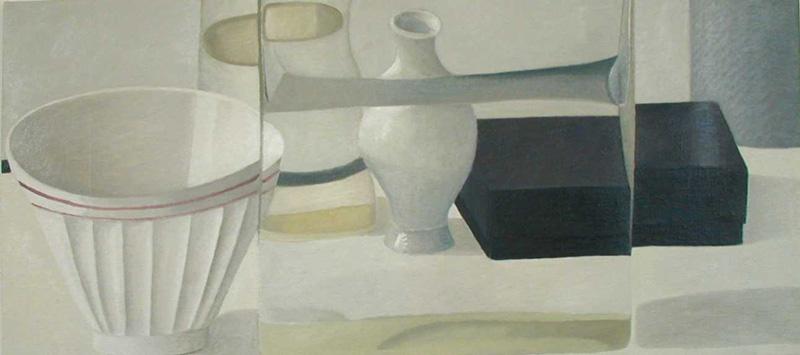 Vaso Trasparente E Ciotola Bianca, 45×100