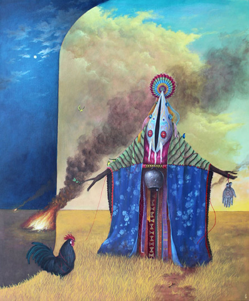 El Gato Chimney, Enigmi Animali, 2013, Acrylic On Canvas, 60x50 Cm