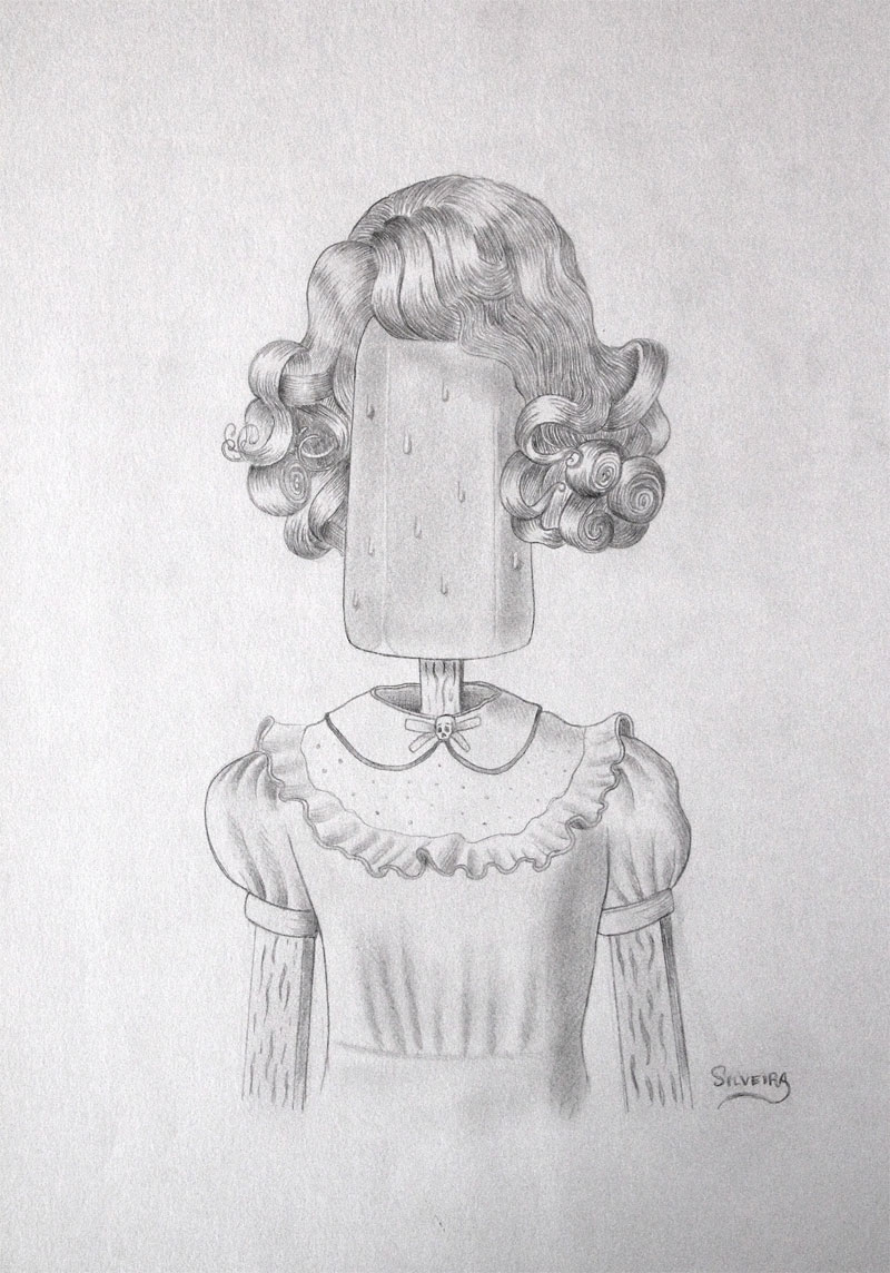 Rafael Silveira, Allegory On Time, 2014, Graphite On Paper, 42x30 Cm