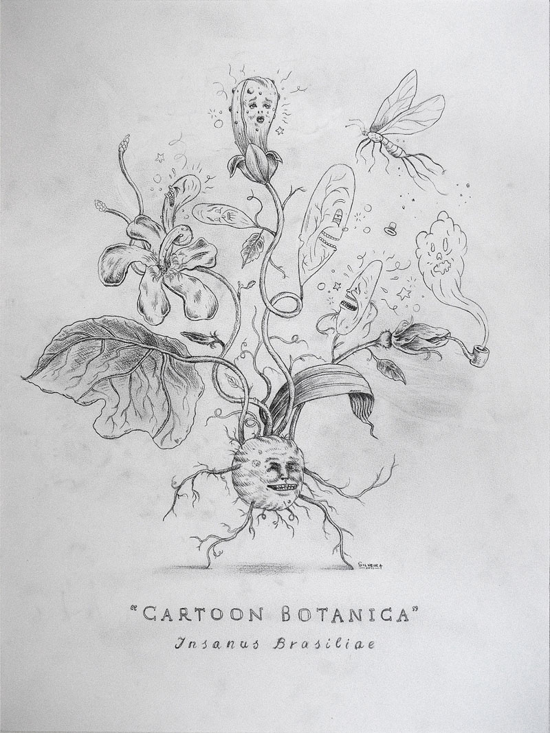 Rafael Silveira, Cartoon Botanica, 2014, Graphite On Paper, 56x42 Cm