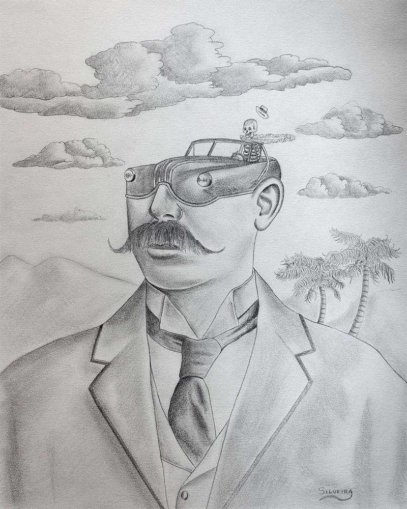 Rafael Silveira, Live Fast, 2014, Graphite On Paper, 50x40 Cm