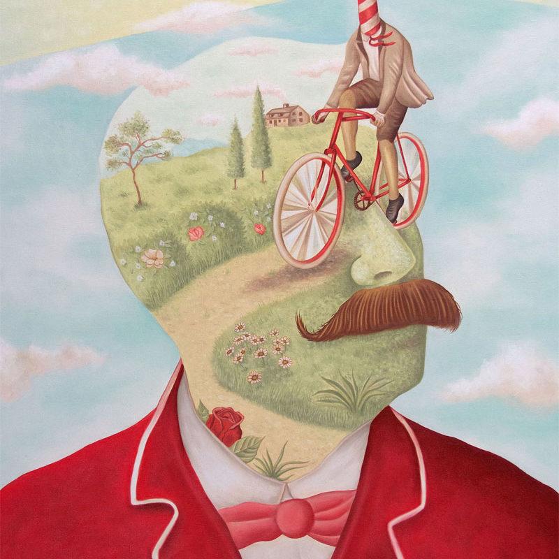 Rafael Silveira, Un Giro Nella Mente, 2015, Oil On Canvas, 80×60 Cm