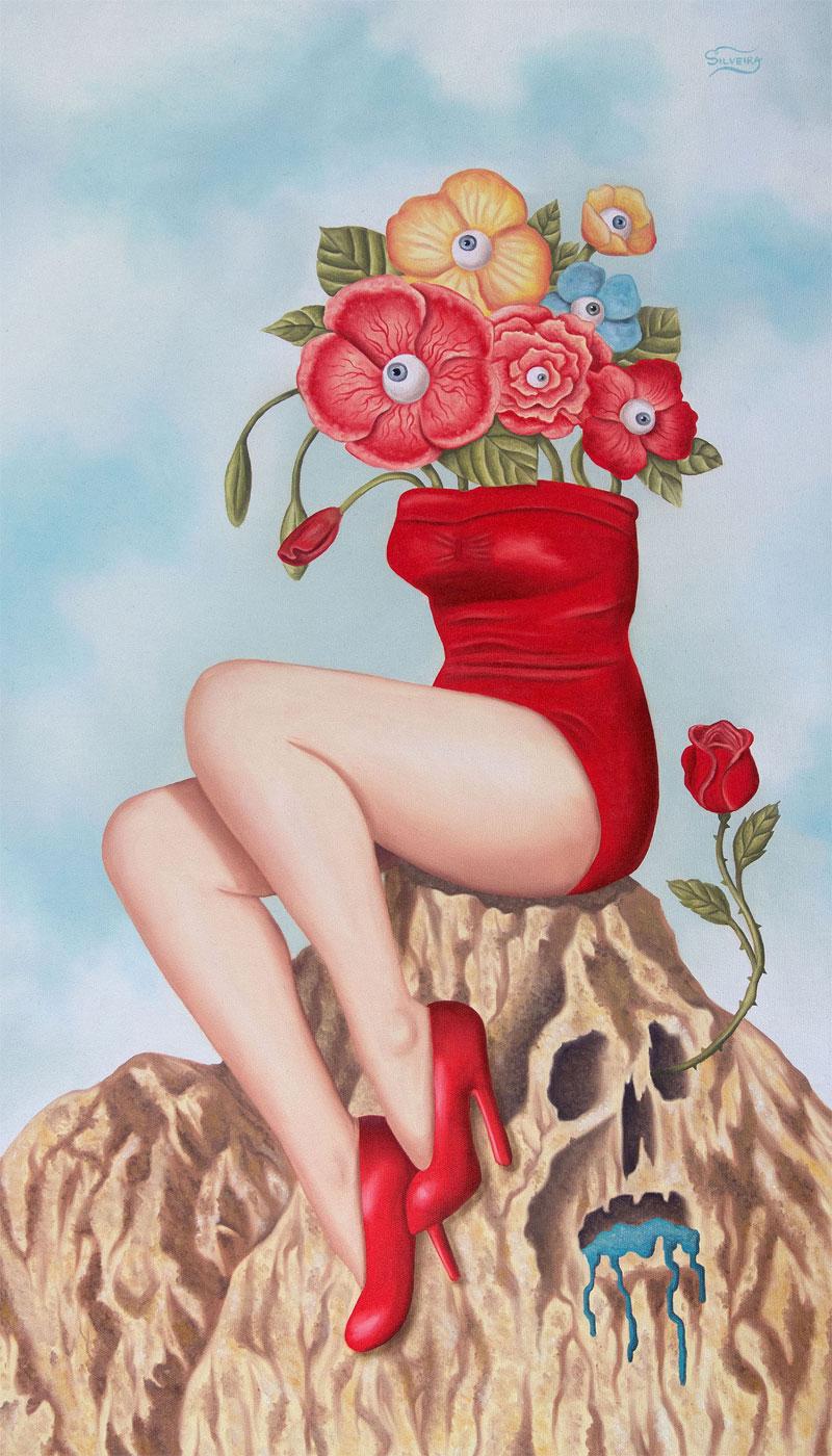 Rafael Silveira, Vanitas, 2015, Oil On Canvas, 70x40 Cm