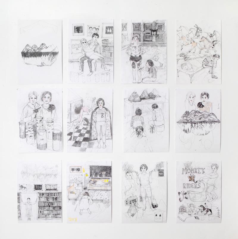 Erika Nordqvist, Untitled, 2015/2016, Pencil On Paper, 30x21 Cm, Each