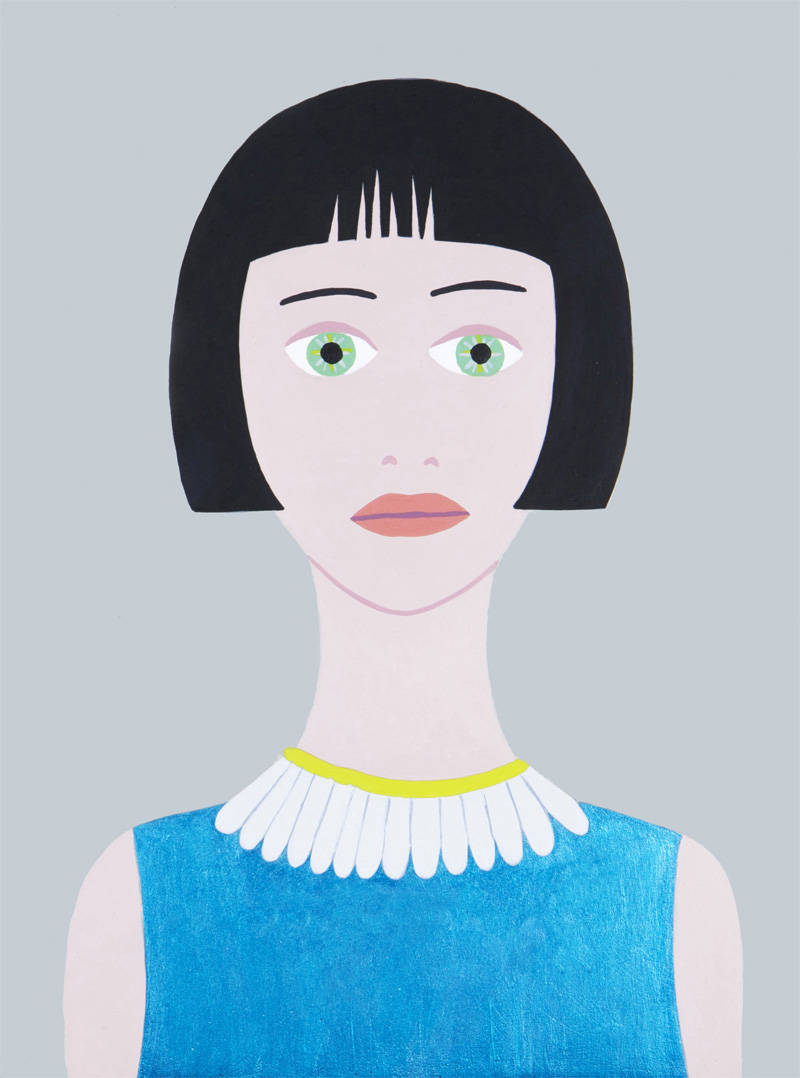 Fulvia Mendini, Belide, 2015, acrylic on board, 23x17 cm