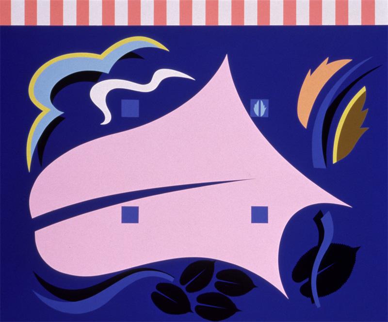 A. Mendini, 1986, Senza titolo, dipinto in nitro su legno, cm 150×180