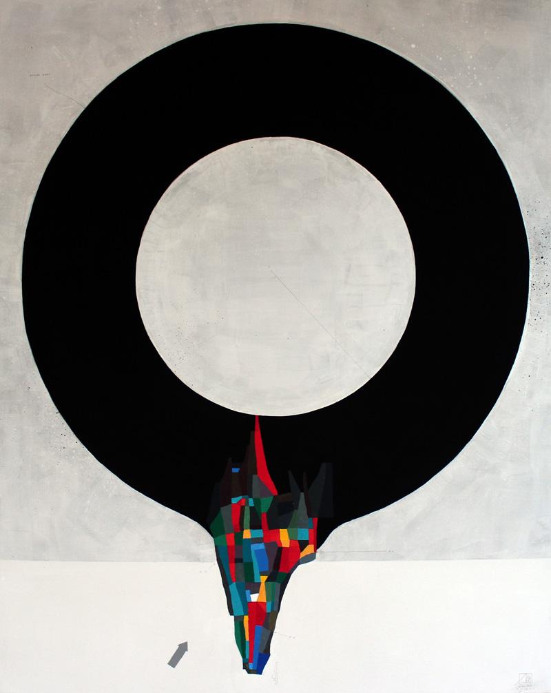 108, Zero, 2016, mixed media on canvas, 80×100 cm