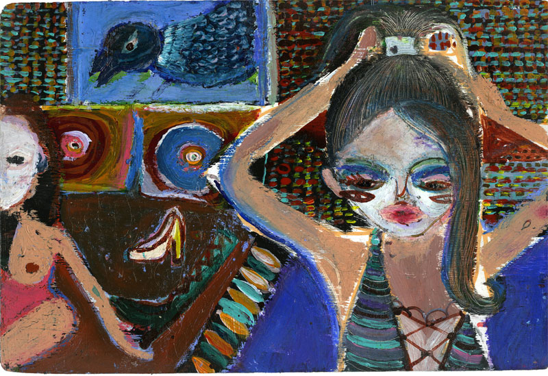 Silvia Argiolas, Lipstick, 2016, Mixed Media On Board, 20×30 Cm