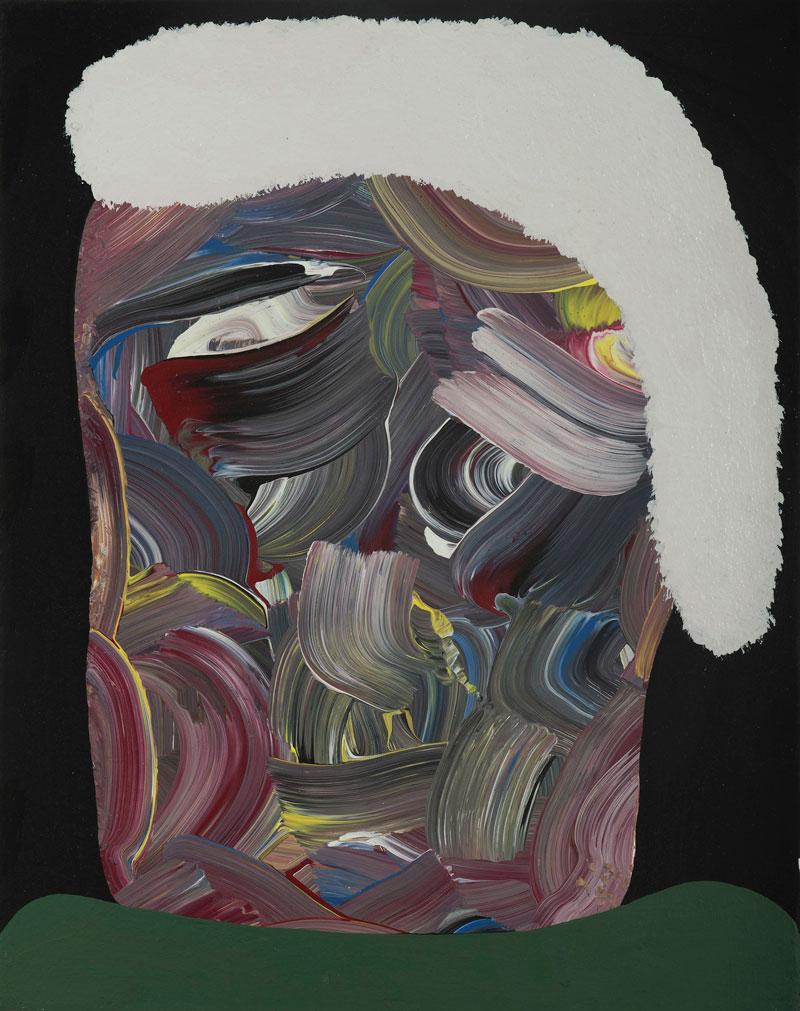 Josh Jefferson, For frank, 2016, mixed media on canvas, 35x28 cm