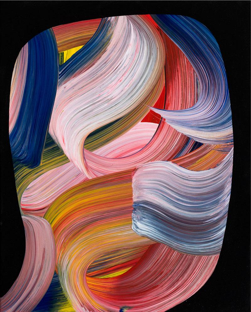 Josh Jefferson, Head of Milton Hogoboom, 2016, mixed media on canvas, 51x41 cm