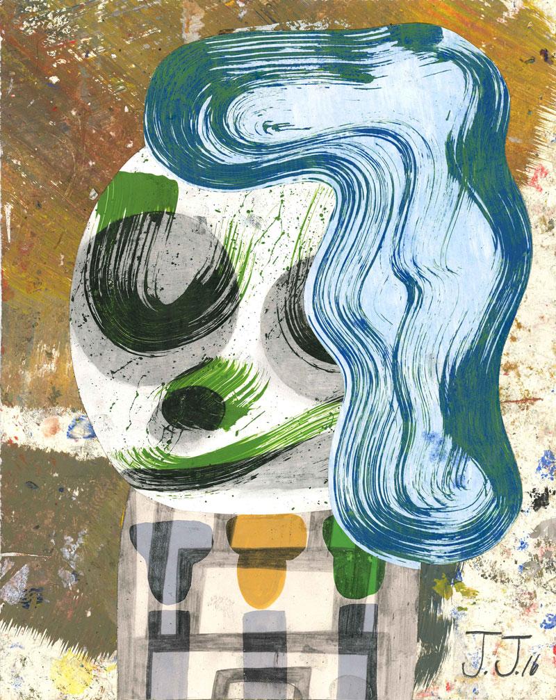 Josh Jefferson, Lisa, 2016, collage on paper, 30,5x23 cm