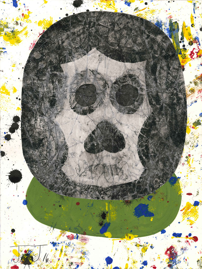 Josh Jefferson, Little bear, 2016, collage on paper, 30,5x23 cm