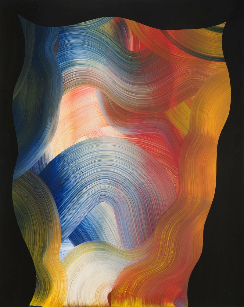 Josh Jefferson, PJ, 2016, mixed media on canvas, 152x122 cm