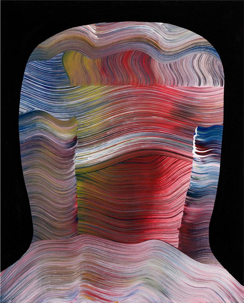 Josh Jefferson, Untitled, 2016, mixed media on canvas, 51x41 cm