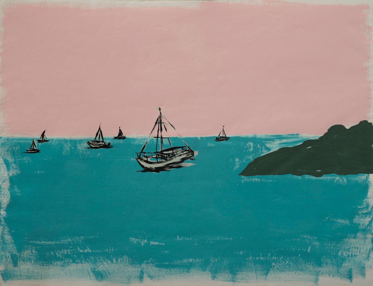 Russ Pope, Summer, 2016, acrylic on canvas, 114x154 cm