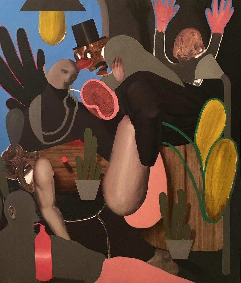 Giuliano Sale, Senza Titolo, 2017, oil on canvas, 140×120 cm