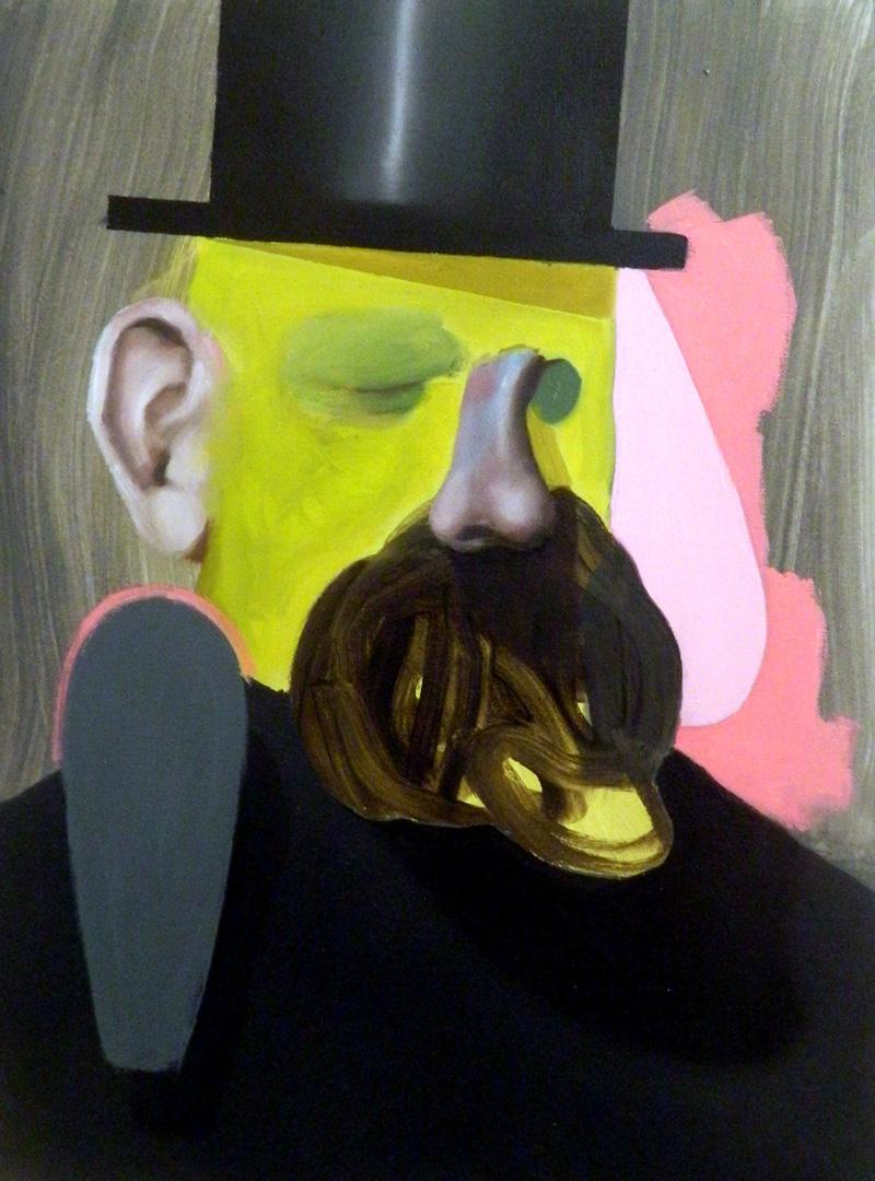 Giuliano Sale, Senza Titolo, 2017, oil on canvas, 40×30 cm