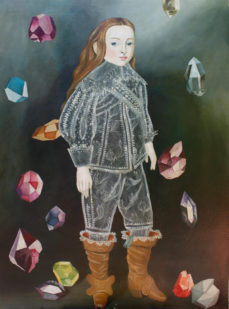 Anne Siems, Gems, 2015, acrylic on board, 101×76 cm