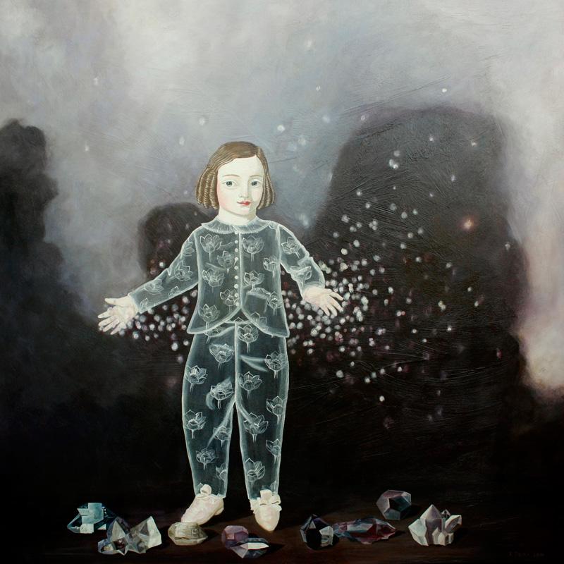 Anne Siems, Stardust, 2014, acrylic on board, 122×122 cm