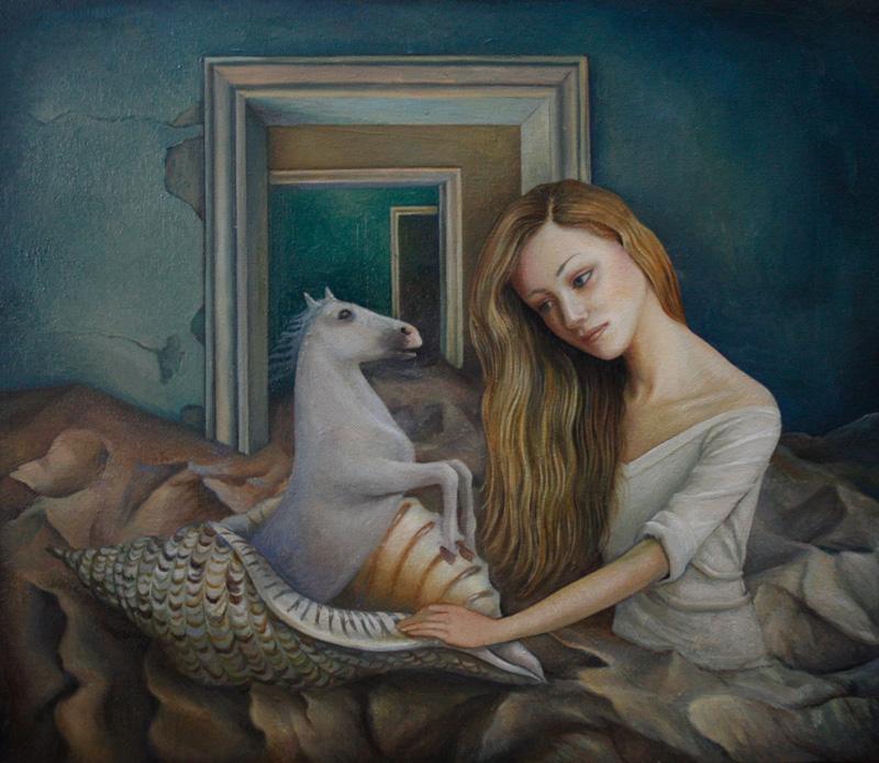 Ilaria Del Monte, Dopo la tempesta, 2017, oil on canvas, 30×35 cm