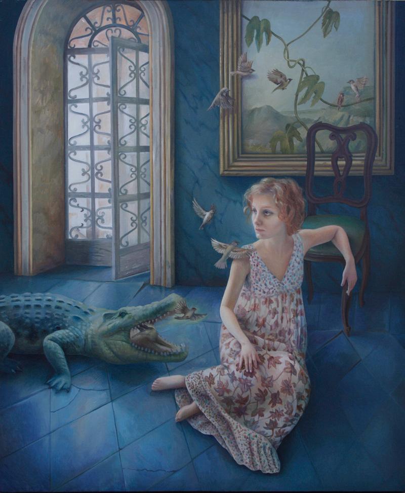 Ilaria Del Monte, I pensieri sovrani, 2016, oil on canvas,, 60×50 cm