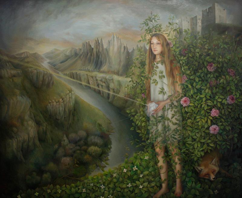 Ilaria Del Monte, ll cristallo magico, 2017, oil on canvas, 150×180 cm