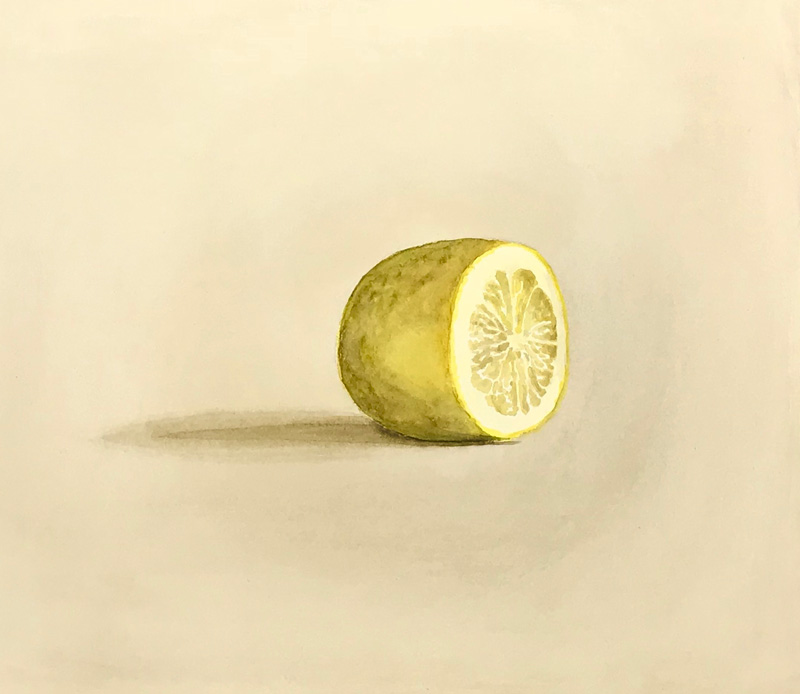 Joshua Huyser, Lemon, 2016, watercolor on paper, 29.2×33.7 cm