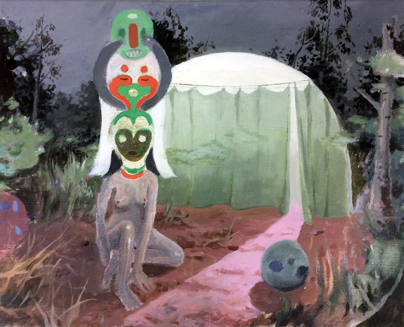 Tilo Baumgärtel, Untitled 3, 2017, oil on canvas, 40×50 cm