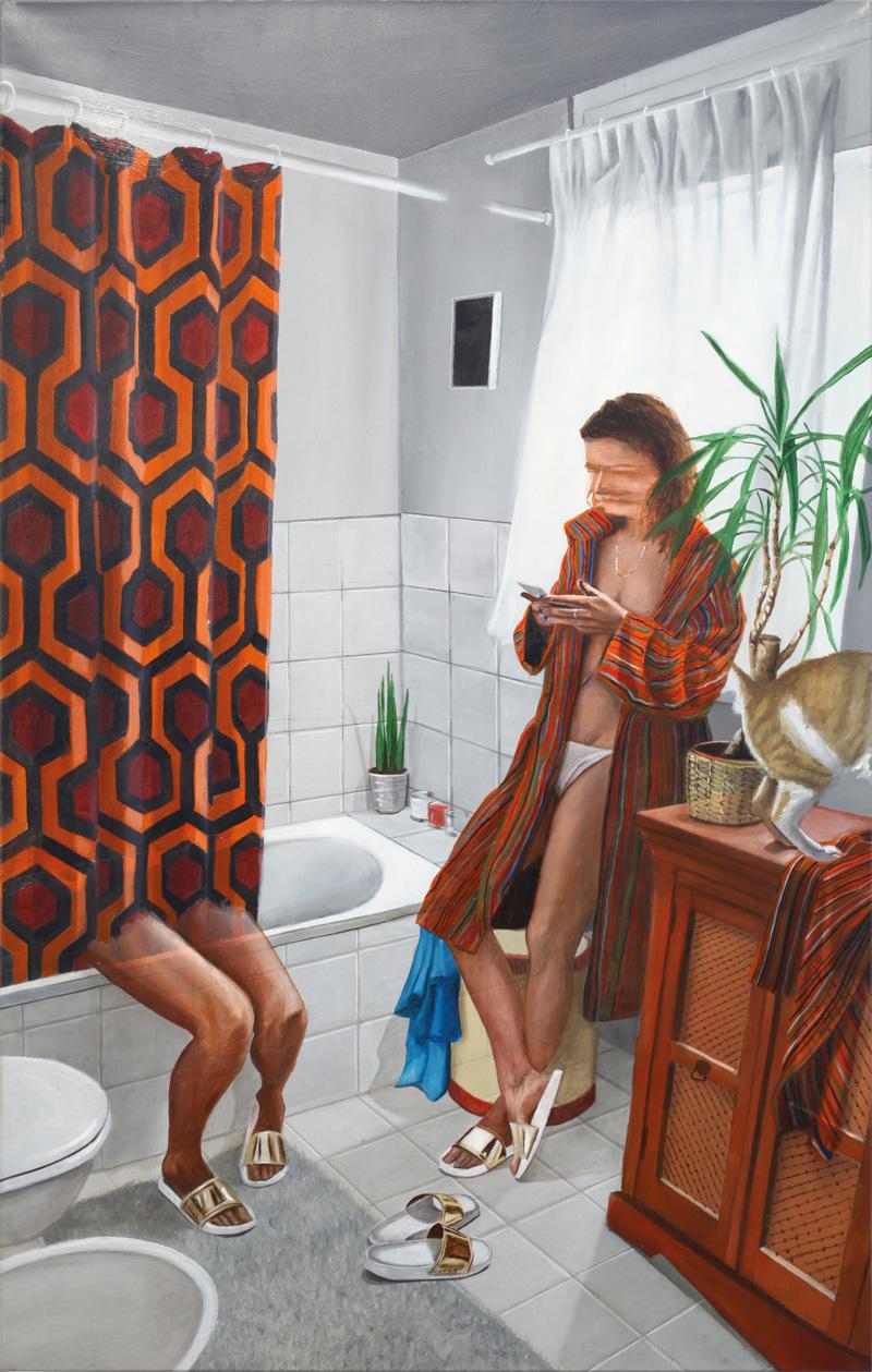 Dario Maglionico, Reificazione #33, 2017, oil on canvas, 80×50 cm