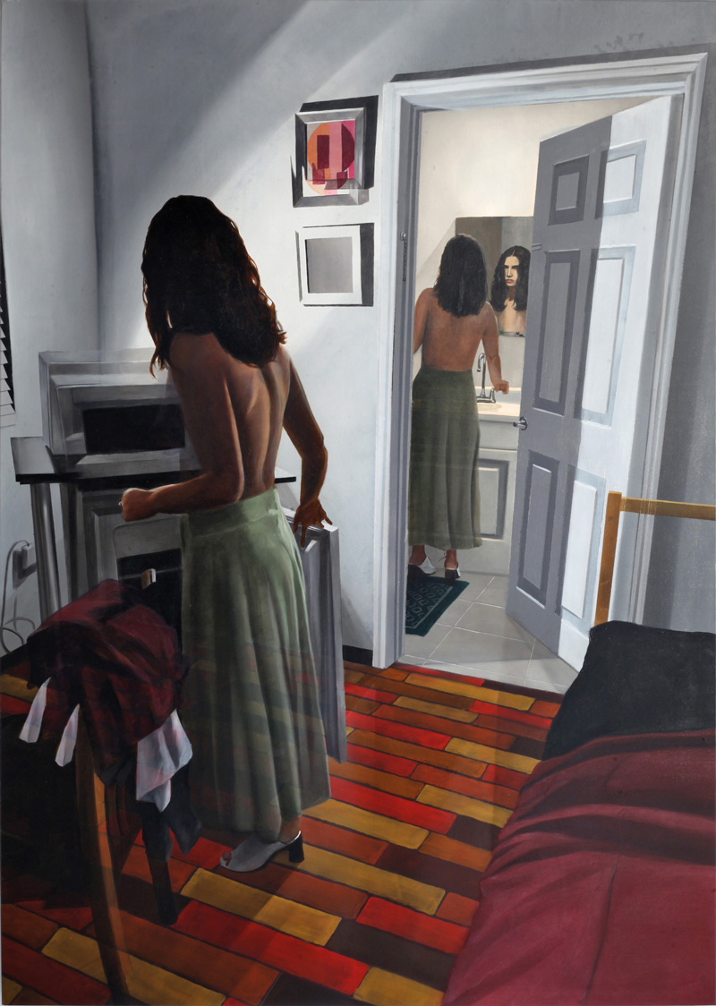Dario Maglionico, Reificazione #46, 2018, oil on canvas, 120×85 cm
